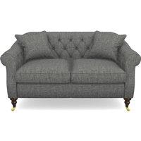 Abbotsbury 2.5 Seater Sofa in Mottled Linen Cotton- Thunder