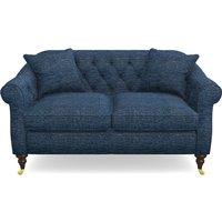 Abbotsbury 2.5 Seater Sofa in Textured Velvet- Denim