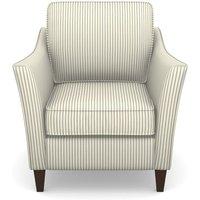 Ashdown Chair in Cotton Stripe- Airforce