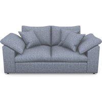 Big softie sloped arm Sloped Arm 2 Seater Sofa in Mottled Linen Cotton- Twilight