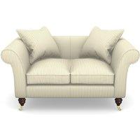 Clavering 2 Seater Sofa in Cotton Stripe- Sage
