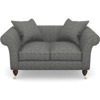 Clavering 2 Seater Sofa in Mottled Linen Cotton- Thunder