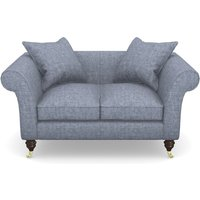 Clavering 2 Seater Sofa in Mottled Linen Cotton- Twilight