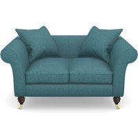 Clavering 2 Seater Sofa in Soft Wool- Cerulean