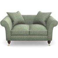 Clavering 2 Seater Sofa in Textured Velvet- Seagrass