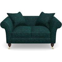 Clavering 2 Seater Sofa in Textured Velvet- Viridian