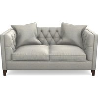 Haresfield 2 Seater Sofa in Textured Velvet- Silver