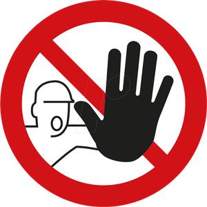 Zutritt verboten  im radio-today - Shop