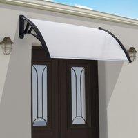 Outsunny marquesina techo canopy para puertas ventanas - Puertas para terrazas ...