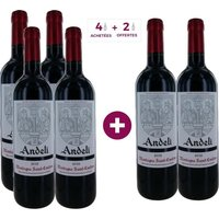 3 Achetées + 3 Offertes Andeli 2012 Montagne Saint-Emilion - Vin Rouge - 75 cl