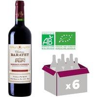 CHÂTEAU BARATET 2014 Vin Bio de Bordeaux Supérieur - Rouge - 75 cl - AOP x6