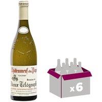 VIEUX TELEGRAPGHE 2015 Châteauneuf du pape Vin de la Vallée du Rhône - Blanc - 75 cl - AOP x 6