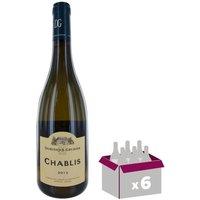 DOMAINE DE L'ABBAYE 2015 Chablis - Blanc - 6x 75 cl - AOC