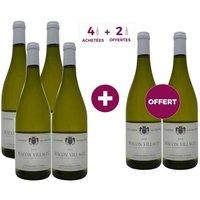 4 ACHETEES + 2 OFFERTES Domaine des 3 Tours 2015 Mâcon Villages Vin Blanc