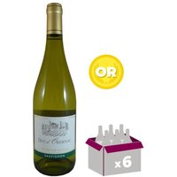 DUC D'OBERNAC 2015 Côtes de Duras Vin du Sud Ouest - Blanc - 75 cl - AOP x 6