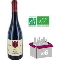 Vin rouge Olivier Cuilleras Côtes du Rhône Village Visan Vieilles Vignes - Année 2015 - 0,75 L x6