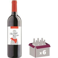ACCENT DU COIN 2016 Côtes du Marmandais Vin du Sud Ouest - Rouge - 75 cl x6 - AOP