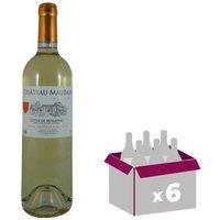CHÂTEAU MAUTAIN 2016 Cuvée la Boissière Côtes de Bergerac  Vin du Sud Ouest - Blanc - MŒlleux - 75 cl - AOC x 6
