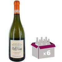 Domaine Sainte Cécile IGP Pays D'OC Chardonnay 2016 - Vin blanc