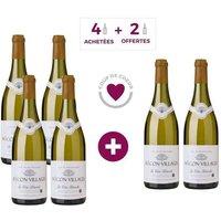 4 + 2 OFFERTES - Cave de Lugny Macon Villages Bourgogne 2016 - Vin blanc