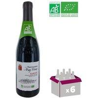 LES TERRASSES DU PUY VIEUX 2016 Sablet BIO Côtes du Rhône Villages - Rouge - 75 cl x6