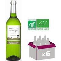 RÉSERVE NATURELLE 2016 Chardonnay Sauvignon Vin Bio du Pays d'OC - Blanc - 75 cl - IGP x6