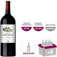 Château de Cruzeau Pessac Léognan Grand Vin de Bordeaux 2014 - Vin Rouge - Magnum x 6