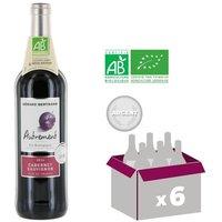 AUTREMENT Cabernet Sauvignon Bio Vin de pays d'Oc - Rouge - 75cl - IGP x6