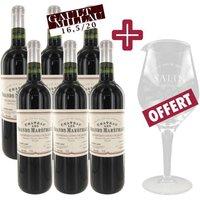 6 achetées + Graal OFFERT - Château Les Grands Maréchaux 2007 Côtes de Blaye vin rouge