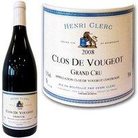 Clos de Vougeot  Henri Clerc 2008 Bourgogne Grand Cru - Vin rouge de Bourgogne