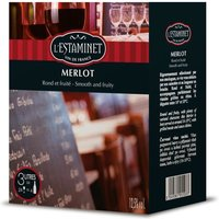 L'ESTAMINET Vin du Languedoc - Rouge - 3 L - Vin de France Merlot