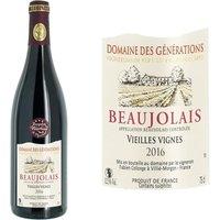 Domaine des Générations Beaujolais Nouveau Vieilles Vignes 2016 - Vin rouge
