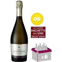 CHÂTEAU MARTINOLLES - Vin Grande Réserve - Blanc de Blancs - AOP Crémant de Limoux  - 75 cl x6