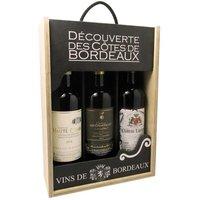 Coffret Côtes de Bordeaux - Chateau Jussas Blaye-Côtes - Haute Combe Côtes de Bourg - Lavergne Castillon-Côtes - Rouge - 3x75cl