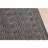 Bengal Small Rug in Black   Handcrafted