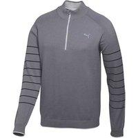 Puma Golf Mens Quarter Zip Novelty Sweater