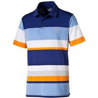 Puma Golf Mens Block Stripe Road Map Polo Shirt