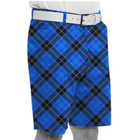 Royal And Awesome Blue Plaid Trews Golf Shorts