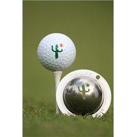 Tin Cup Ball Marker - Cactus Cantina