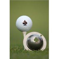 Tin Cup Ball Marker - Poker Face
