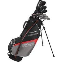 Wilson Mens Prostaff HDX Golf Package Set (Steel/Graphite) 1 Inch Longer 2017