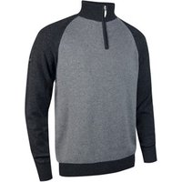 Glenmuir Mens Joseph Colour Block Zip Neck Sweater