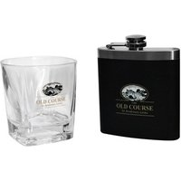 St Andrews Tumbler and Hip Flask