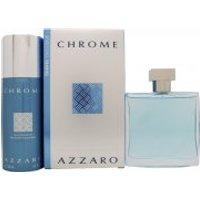 Azzaro Chrome Gift Set 100ml EDT + 150ml Deodorant Spray
