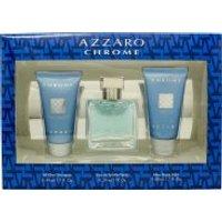Azzaro Chrome Gift Set 30ml EDT + 50ml Shower Gel + 50ml Aftershave Balm