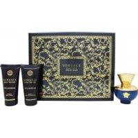 Versace Pour Femme Dylan Blue Gift Set 50ml EDP + 50ml Body Lotion + 50ml Shower Gel