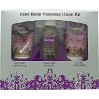 'Fake Bake Flawless Travel Kit 80ml Self Tan Liquid + 60ml Body Scrub + 60ml Oil Free Moisturiser