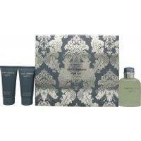 Image of Dolce & Gabbana Light Blue Pour Homme Gift Set 125ml EDT + 50ml Aftershave Balm + 50ml Shower Gel