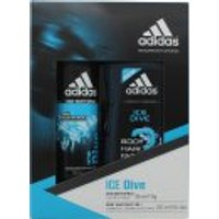 Adidas Ice Dive Gift Set 150ml Deodorant Body Spray + 250ml Shower Gel