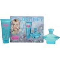 Britney Spears Curious Gift Set 100ml EDP Spray + 100ml Body Souffle